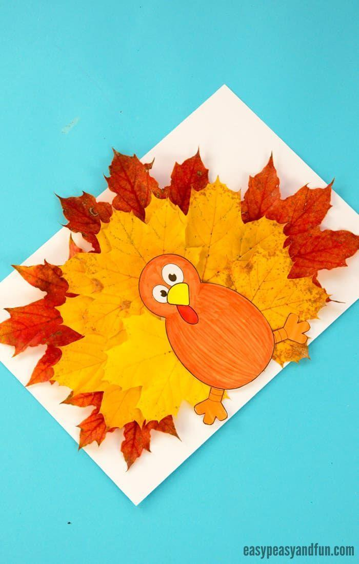 """<p>Add some festive flair to a printout of Tom the Turkey with an array of colorful leaves straight from your backyard.</p><p><em><a href=""""https://www.easypeasyandfun.com/turkey-leaf-craft/"""" rel=""""nofollow noopener"""" target=""""_blank"""" data-ylk=""""slk:Get the tutorial at Easy, Peasy, and Fun »"""" class=""""link rapid-noclick-resp"""">Get the tutorial at Easy, Peasy, and Fun »</a></em></p>"""