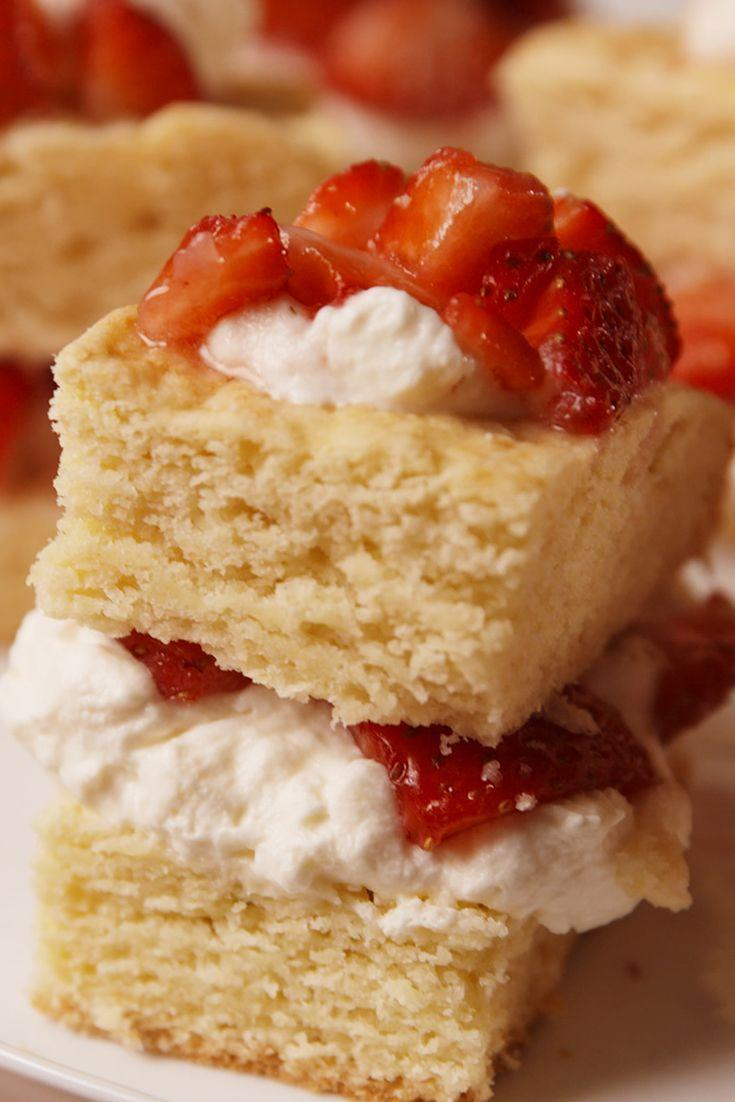 """<p>Strawberry shortcakes forever.</p><p>Get the recipe from <a href=""""https://www.delish.com/cooking/recipe-ideas/recipes/a52112/easy-strawberry-shortcake-recipe/"""" rel=""""nofollow noopener"""" target=""""_blank"""" data-ylk=""""slk:Delish"""" class=""""link rapid-noclick-resp"""">Delish</a>. </p>"""