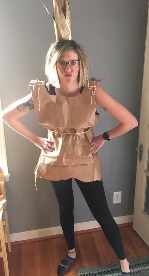 "<p>Looking for an easy, but undeniably clever, DIY costume? Gather your paper bags, and recycle them into a dress inspired by <em><a href=""https://www.amazon.com/Paper-Bag-Princess-Robert-Munsch/dp/0920236251?tag=syn-yahoo-20&ascsubtag=%5Bartid%7C10072.g.33224975%5Bsrc%7Cyahoo-us"" rel=""nofollow noopener"" target=""_blank"" data-ylk=""slk:The Paper Bag Princes"" class=""link rapid-noclick-resp"">The Paper Bag Princes</a>s </em>by Robert Munsch. </p><p><a class=""link rapid-noclick-resp"" href=""https://www.target.com/p/12ct-gold-tiara-crown-spritz-8482/-/A-51470361"" rel=""nofollow noopener"" target=""_blank"" data-ylk=""slk:Shop Tiaras Here"">Shop Tiaras Here</a></p><p><em><a href=""http://beeplusdub.blogspot.com/2013/10/diy-paper-bag-princess-costume.html"" rel=""nofollow noopener"" target=""_blank"" data-ylk=""slk:Check out a costume tutorial."" class=""link rapid-noclick-resp"">Check out a costume tutorial.</a></em></p>"
