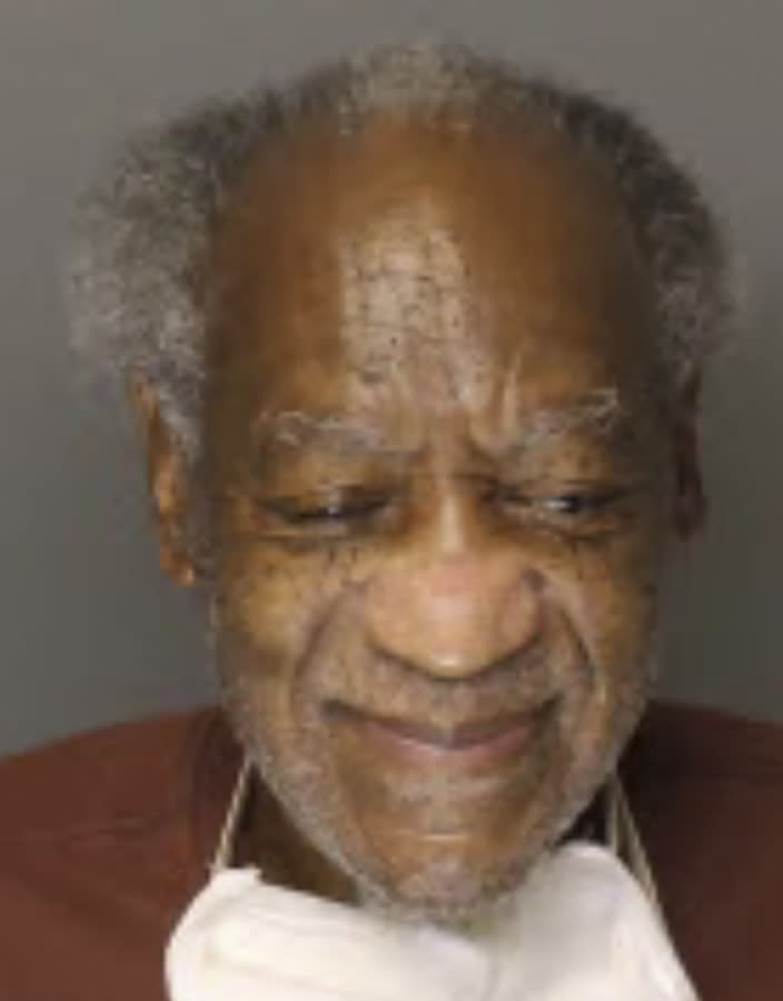 This Tuesday, Sept. 4, 2020, inmate photo provided by the Pennsylvania Department of Corrections shows Bill Cosby. The Pennsylvania Department of Corrections recently updated the 83-year-old Cosby's mugshot. Cosby was convicted of felony sex assault and is serving a three- to 10-year prison term. (Pennsylvania Department of Corrections via AP)