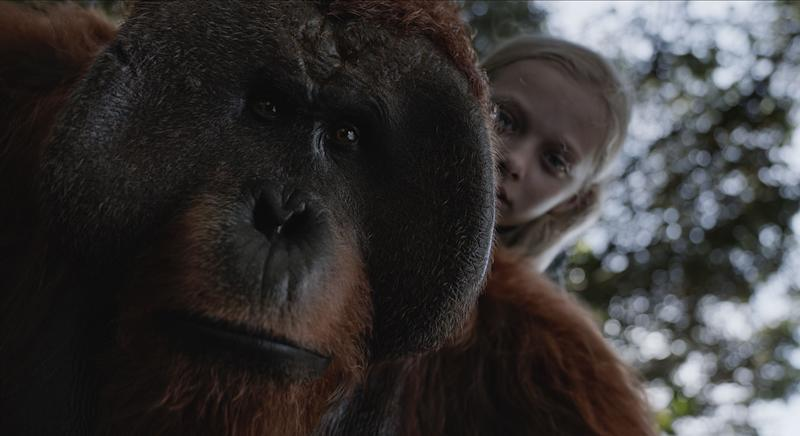 Amiah Miller plays mute youth Nova in 'War for the Planet of the Apes' (20th Century Fox)