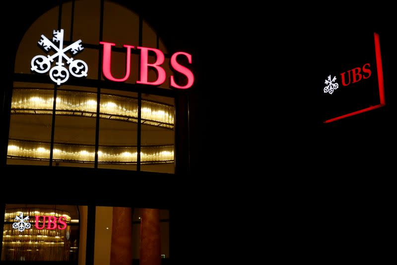 FILE PHOTO: FILE PHOTO: Logo of Swiss bank UBS is seen in Basel