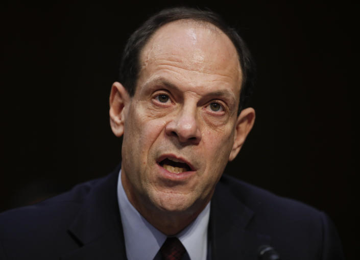 Glenn Fine, Acting Inspector General, U.S. Department Of Defense, testifies during a Senate Judiciary Committee hearing on Capitol Hill in Washington, Wednesday, Dec. 6, 2017. (AP Photo/Carolyn Kaster)