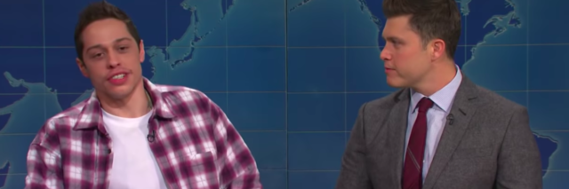 """Pete Davidson and Colin Jost on """"Weekend Update"""""""