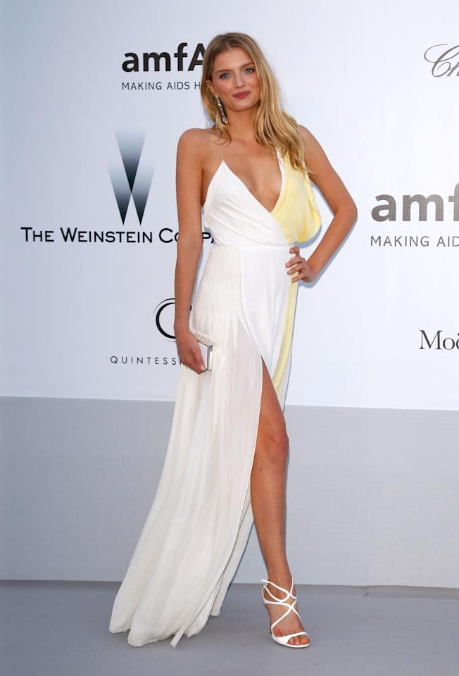 CAP D'ANTIBES, FRANCE - MAY 24:  Model Lily Donaldson arrives at the 2012 amfAR's Cinema Against AIDS during the 65th Annual Cannes Film Festival at Hotel Du Cap on May 24, 2012 in Cap D'Antibes, France.  (Photo by Andreas Rentz/Getty Images)