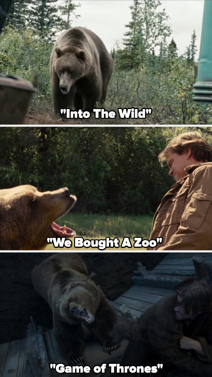 """Bart the Bear II in """"Into the Wild,"""" """"We Bought a Zoo,"""" and """"Game of Thrones"""""""