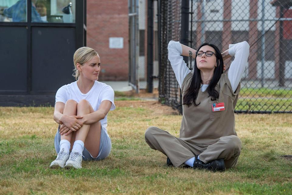 <ul> <li><strong>What to wear:</strong> Some simple prison scrubs will do for both girls. Your version of Alex will need those thick glasses and long black hair, though.</li> </ul>