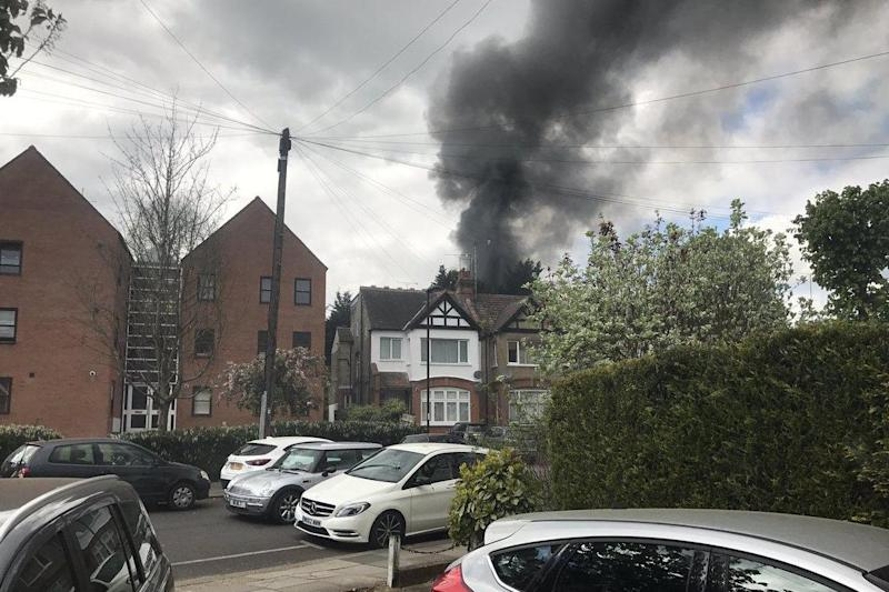 The fire broke in a workshop in Enfield on Thursday afternoon: Neil Chandler