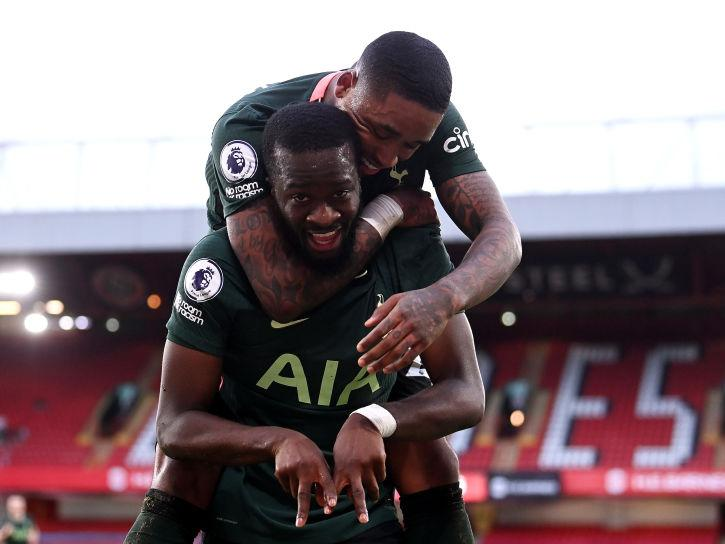 Tanguy Ndombele of Tottenham Hotspur celebrates (Getty)