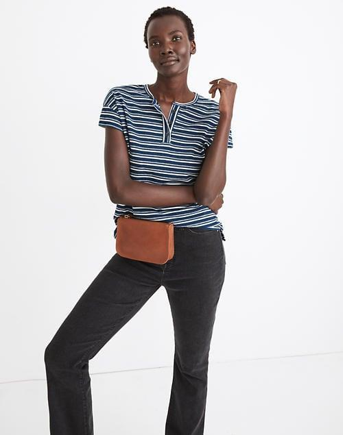 <p>We love the relaxed collar and fit of this <span>Madewell Brother Henley Tee</span> ($27, originally $50).</p>