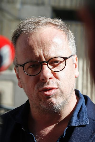 Secretary general of Reporters Without Borders (RSF) Christophe Deloire says the case puts Turkish journalism in the dock (AFP Photo/GEOFFROY VAN DER HASSELT)