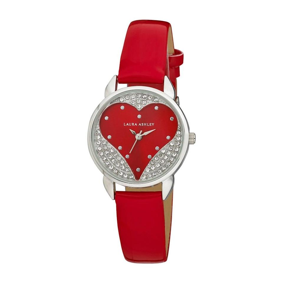<p>We are loving the silver accents on this <span>Laura Ashley Crystal Accent Red Strap Watch</span> ($30, originally $33). We'll wear it year-round.</p>