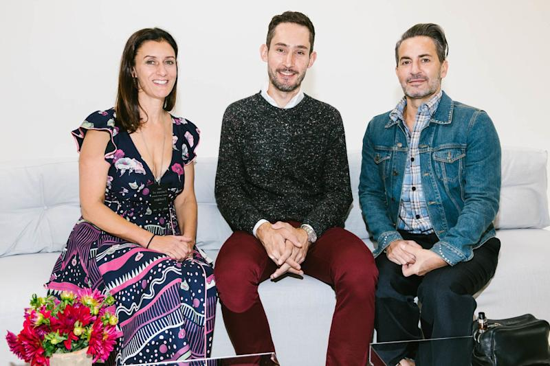 Sally Singer, Kevin Systrom, and Marc Jacobs