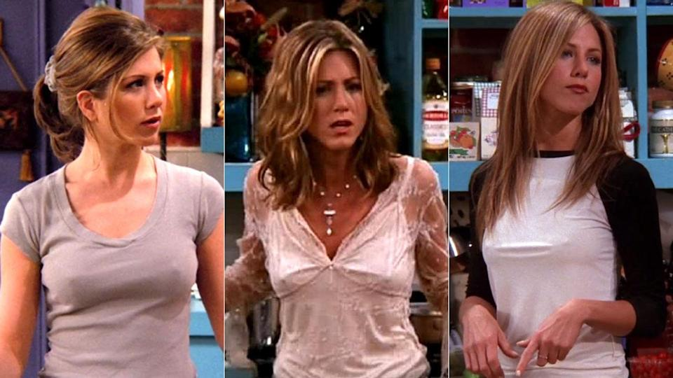 Aniston played the role of Rachel in 'Friends'; a character known for regularly freeing the nipple [Photo: NBC]