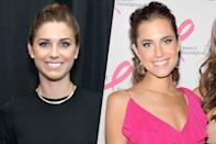 <p>American soccer player Alex Morgan (left) and HBO series Girls actress Allison Williams (right). </p>