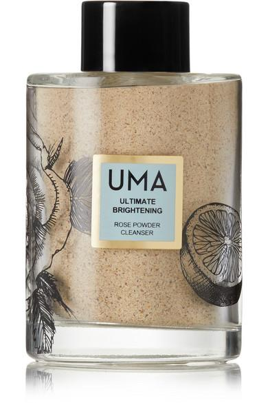 """<p><a rel=""""nofollow"""" href=""""https://www.net-a-porter.com/us/en/product/1000435/UMA_Oils/ultimate-brightening-rose-powder-cleanser-113g"""">Shop Now</a> $65<br></p><p>""""Exfoliation is important any time of year, but as a combination/oily skin girl who is prone to breakouts, I feel extra compelled to scrub during the winter months when I am using richer nourishing products. The super gentle yet effective UMA Oils Ultimate Brightening Rose Powder Cleanser is based on a century-old Ayurvedic purifying recipe. Rather than using it daily (which you can), I like to apply it once or twice a week as a mask to maximize the clarifying and brightening benefits."""" <em> -  </em><em>Meg Storm, Beauty Assistant</em></p>"""
