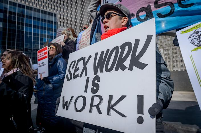 Decrim NY, a coalition aimed at decriminalizing the sex trade in New York state, was launched on Feb. 25, 2019. (Photo: Pacific Press via Getty Images)