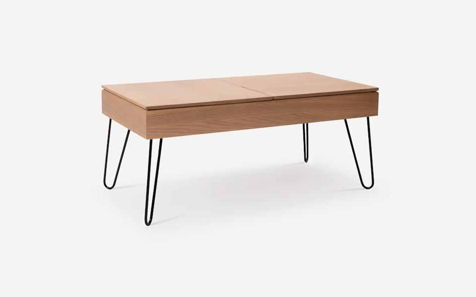 """<h2>Burrow Bento Coffee Table</h2><br>Inspired by the convenient compartmentalized sections of a bento box, this coffee table offers plenty of built-in, segmented storage — while the tabletop is made of three removable and rearrangeable trays (all of which make great lap desks or drink trays when they're not resting on the table). <br><br><strong>Burrow</strong> Bento Coffee Table, $, available at <a href=""""https://go.skimresources.com/?id=30283X879131&url=https%3A%2F%2Fburrow.com%2Ftables-and-benches%2Fbento-coffee-table%3Fsku%3DFLRTB-CT-BT-OK-HP-BM"""" rel=""""nofollow noopener"""" target=""""_blank"""" data-ylk=""""slk:Burrow"""" class=""""link rapid-noclick-resp"""">Burrow</a>"""
