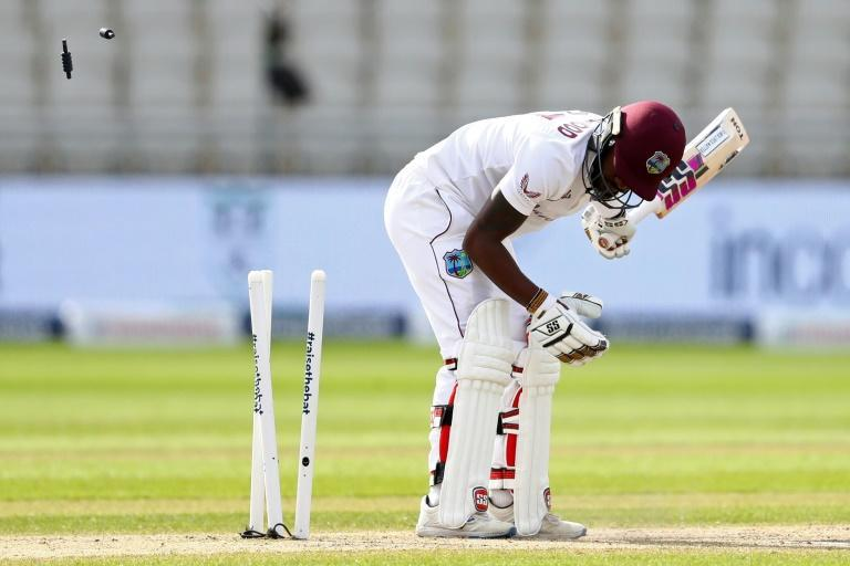Jermaine Blackwood was one of Stuart Broad victims at Old Trafford