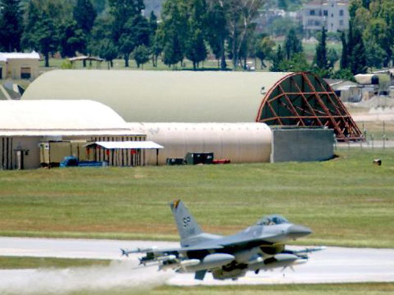 The big stick: An F-16 fighter at Incirlik last month, but when will they attack IS?: AFP