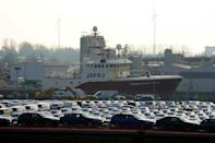 Transport of new cars makes up a good portion of the goods shipped though Cuxhaven