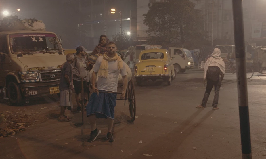 Last year he spent 10 days living and working as a rickshaw wallah in India. Source: Richard Bowles
