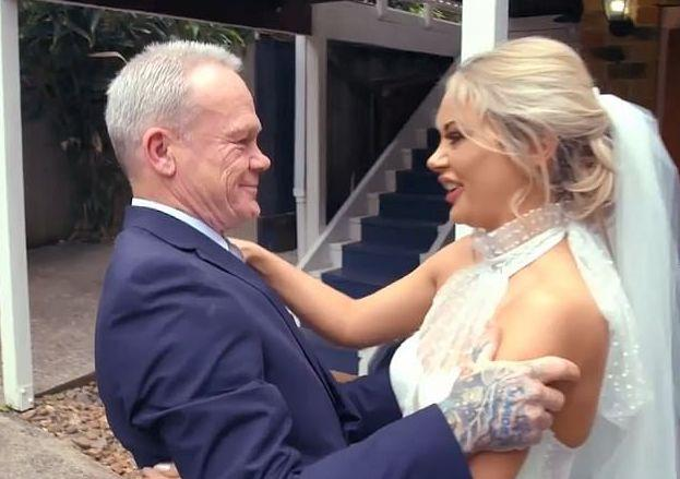Jessika reconnected with her father Troy six years ago. Photo: Channel Nine
