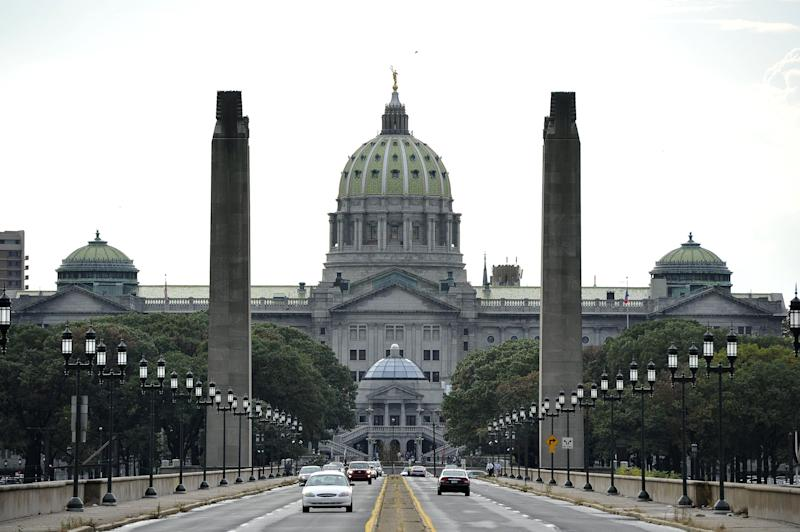 This 2011 file photo shows the state Capitol in Pennsylvania.  (Photo: MLADEN ANTONOV via Getty Images)