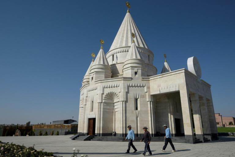 The new Yazidi Temple is in the village of Aknalich, 35 kilometres from the Armenian capital Yerevan (AFP Photo/KAREN MINASYAN)