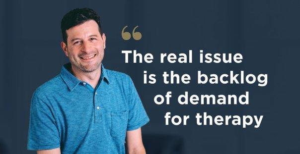 Russell Glass sees technology as the only possible means of correcting the current supply-demand imbalance in the marketplace for mental health services. Photo courtesy of Ginger