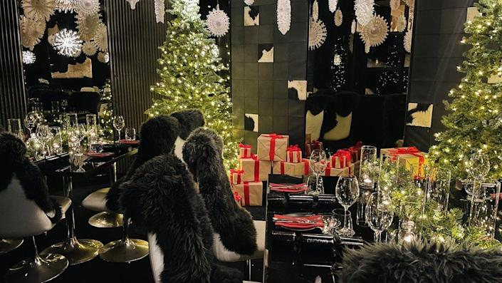 Gaucho's private room set up for its Christmas In July initiative