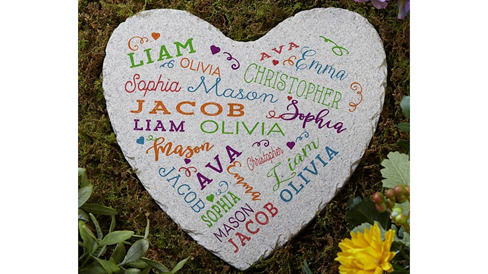 Best personalized gifts: Close to Her Heart Personalized Garden Stone