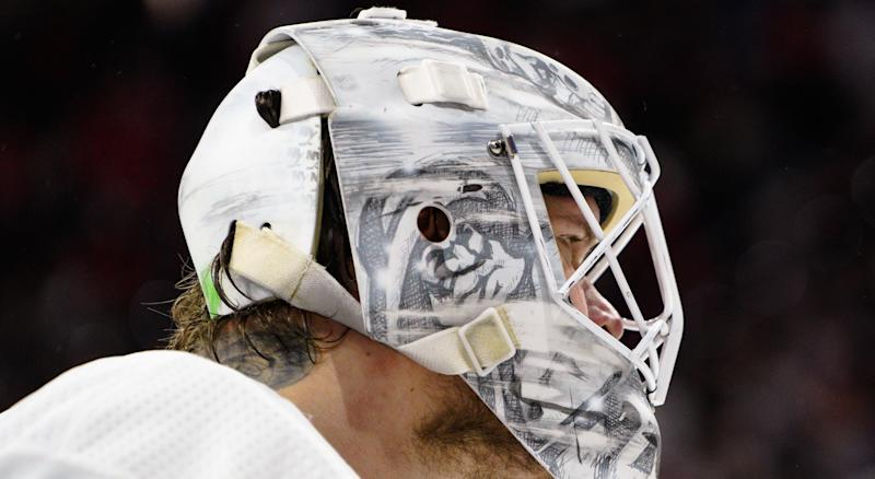 Robin Lehner is continuing his efforts to promote mental health. (Photo by Greg Thompson/Icon Sportswire via Getty Images)