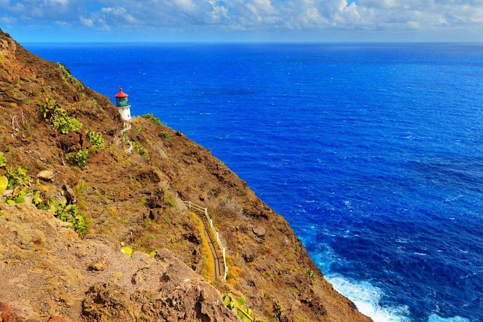 "<p>Say <em>aloha</em> to one of the best hikes in Hawaii. With its 647-foot incline and sweeping seaside vistas, the <a href=""https://www.tripadvisor.com/Attraction_Review-g60982-d2664518-Reviews-Makapuu_Lighthouse_Trail-Honolulu_Oahu_Hawaii.html"" rel=""nofollow noopener"" target=""_blank"" data-ylk=""slk:Makapu'u Lighthouse Trail"" class=""link rapid-noclick-resp"">Makapu'u Lighthouse Trail</a> is considered to be an easy hike with opportunities to spot whale spouts between December and April and sightings of the native cacti that line the trail. A charming lighthouse sets the scene for viewing beautiful Hawaiian sunsets</p><p><a class=""link rapid-noclick-resp"" href=""https://go.redirectingat.com?id=74968X1596630&url=https%3A%2F%2Fwww.tripadvisor.com%2FAttraction_Review-g60982-d2664518-Reviews-Makapuu_Lighthouse_Trail-Honolulu_Oahu_Hawaii.html&sref=https%3A%2F%2Fwww.redbookmag.com%2Flife%2Fg34357299%2Fbest-hikes-in-the-us%2F"" rel=""nofollow noopener"" target=""_blank"" data-ylk=""slk:PLAN YOUR HIKE"">PLAN YOUR HIKE</a></p>"