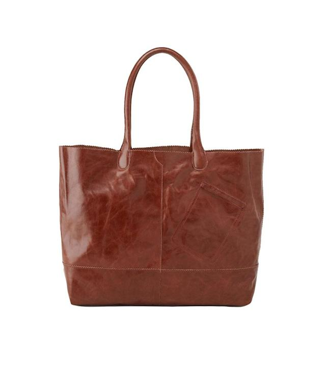 "<p>Rozanne Tote, $268, <a href=""https://www.hobobags.com/products/rozanne-tote?sku=VI-35651CAFE&via=59665382f92ea1837e002aa4"" rel=""nofollow noopener"" target=""_blank"" data-ylk=""slk:hobobags.com"" class=""link rapid-noclick-resp"">hobobags.com</a> </p>"