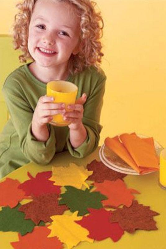 "<p>Set the table in style with these kid crafted felt (or paper) leaf placemat.</p><p><strong>Get the tutorial at <a href=""https://www.womansday.com/home/crafts-projects/how-to/a2781/leafy-placemats-1124/"" rel=""nofollow noopener"" target=""_blank"" data-ylk=""slk:Woman's Day"" class=""link rapid-noclick-resp"">Woman's Day</a>.</strong></p><p><a class=""link rapid-noclick-resp"" href=""https://www.amazon.com/21-Felt-Sheets-Colors-Collection/dp/B01HQTHT5G/ref=sr_1_1?tag=syn-yahoo-20&ascsubtag=%5Bartid%7C10050.g.22626432%5Bsrc%7Cyahoo-us"" rel=""nofollow noopener"" target=""_blank"" data-ylk=""slk:SHOP FELT""> SHOP FELT</a></p>"