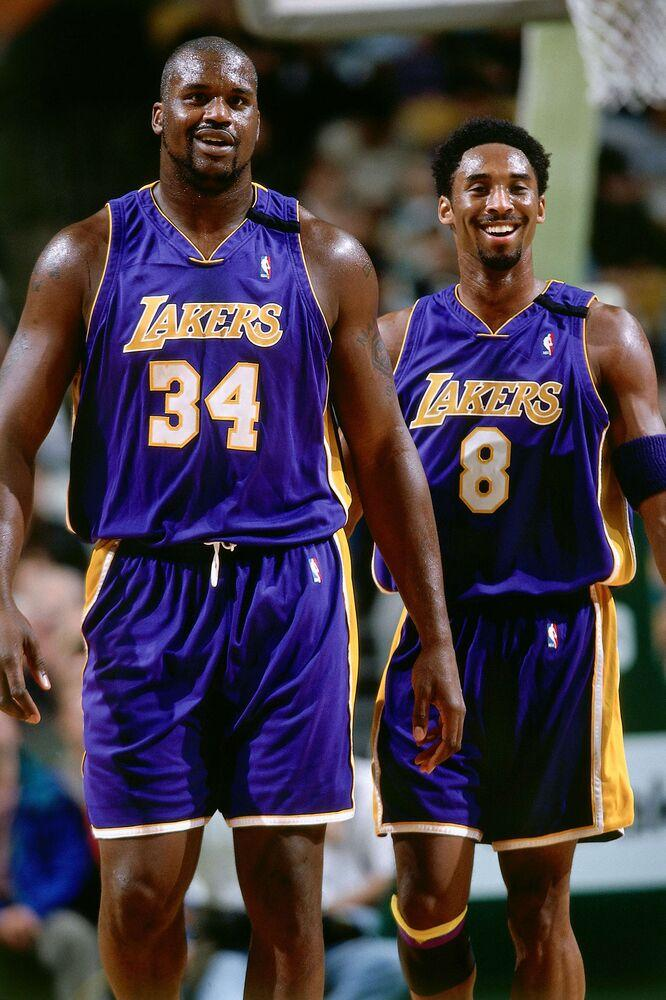 Shaquille O'Neal and Kobe Bryant | Andrew D. Bernstein/NBAE via Getty Images