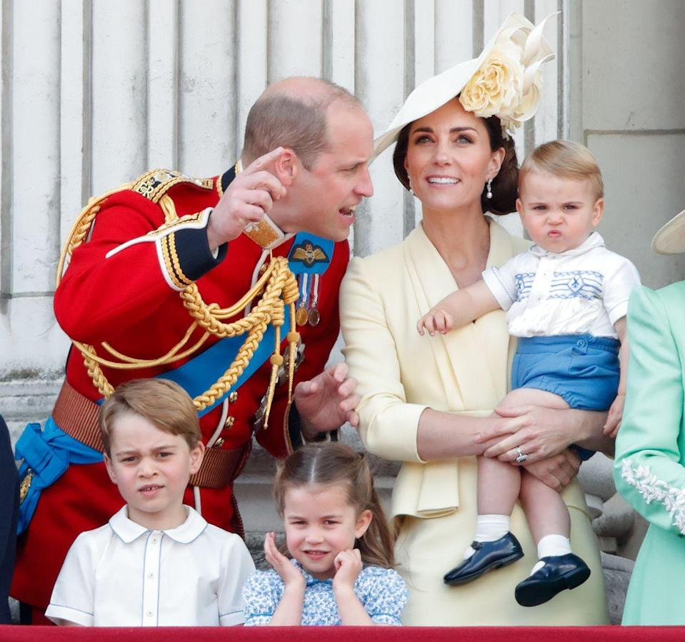 <p>Prince Louis scrunches his nose at the camera during Trooping of the Colour.</p>