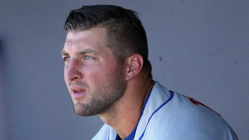 Tim Tebow's shot at a September call-up might have just ended because of a broken hand. (AP)