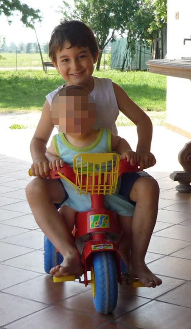 <strong>The couple's son Lorenzo, 11, was killed in the accident</strong> (Facebook)