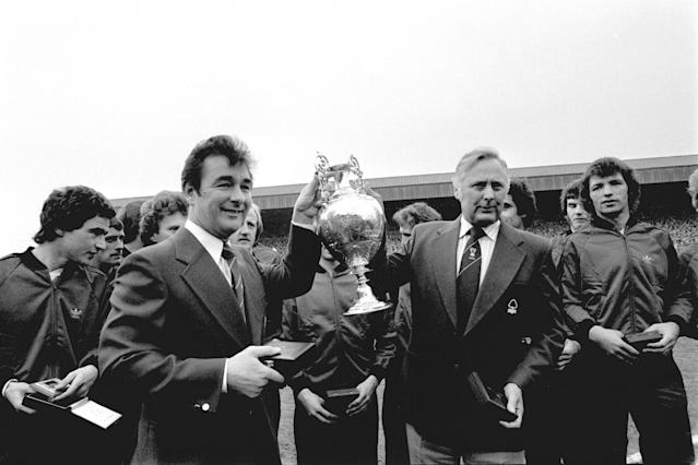 <p>Brian Clough's Nottingham Forest, with a practically non-existent budget, won promotion to Division One with the fifth-lowest points tally ever. They went on to win the league, and then back-to-back European Cups in 1979 and 1980. </p>