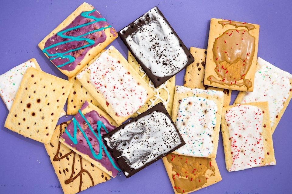 """<p>Turns out <a href=""""/food-news/a46972/surprising-pop-tarts-facts/"""" data-ylk=""""slk:Pop-Tarts"""" class=""""link rapid-noclick-resp"""">Pop-Tarts</a> aren't named after the way they pop out of your toaster — the name was inspired by the pop art movement and the creations of artists like Andy Warhol.</p>"""
