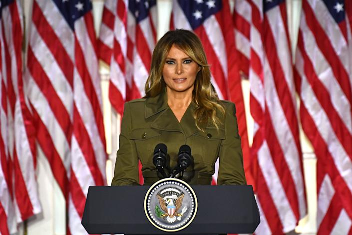 <p>Melania Trump gives farewell message days before Biden inauguration</p> (AFP via Getty Images)