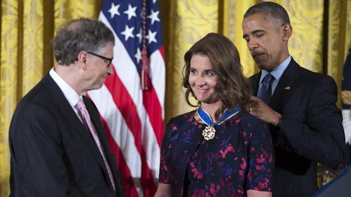 US President Barack Obama awards Bill and Melinda Gates the Presidential Medal of Freedom