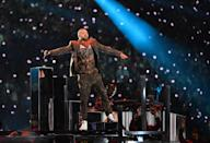 <p>Justin Timberlake performs on stage during the Super Bowl LII halftime show at the US Bank Stadium in Minneapolis, Minnesota February 4, 2018. (TIMOTHY A. CLARY/AFP/Getty Images) </p>