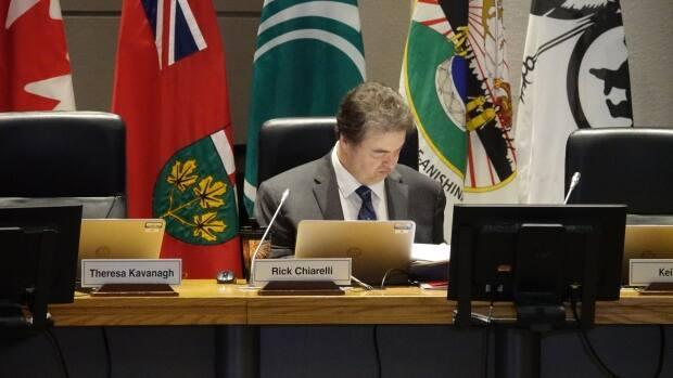 Coun. Rick Chiarelli was found to have egregiously breached Ottawa's code of conduct last year in two separate investigations conducted by the integrity commissioner. (Kate Porter/CBC - image credit)