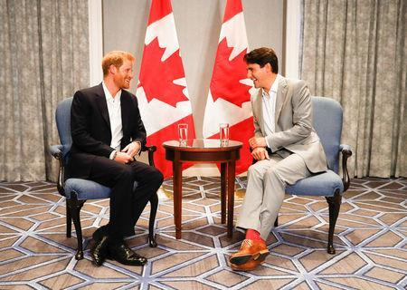 Britain's Prince Harry meets with Canada's Prime Minister Justin Trudeau ahead of the Invictus Games in Toronto, Ontario, Canada, September 23, 2017. REUTERS/Mark Blinch