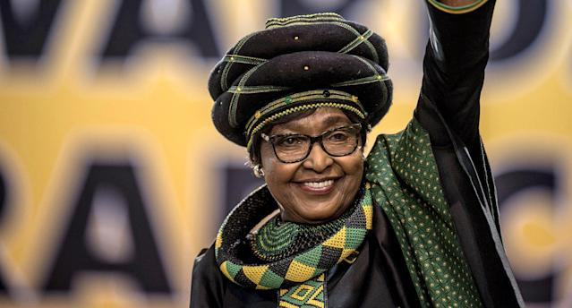 Winnie Mandela, the former wife of the late South African President Nelson Mandela, has died at age 81. (Photo: MUJAHID SAFODIEN/AFP/Getty Images)