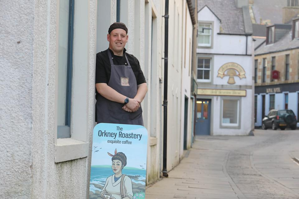 Chef Robert Gatt launched his business in Stromness, Orkney's second biggest town, during the pandemic. (Ken Amer/Orkney Photographic for Yahoo UK)
