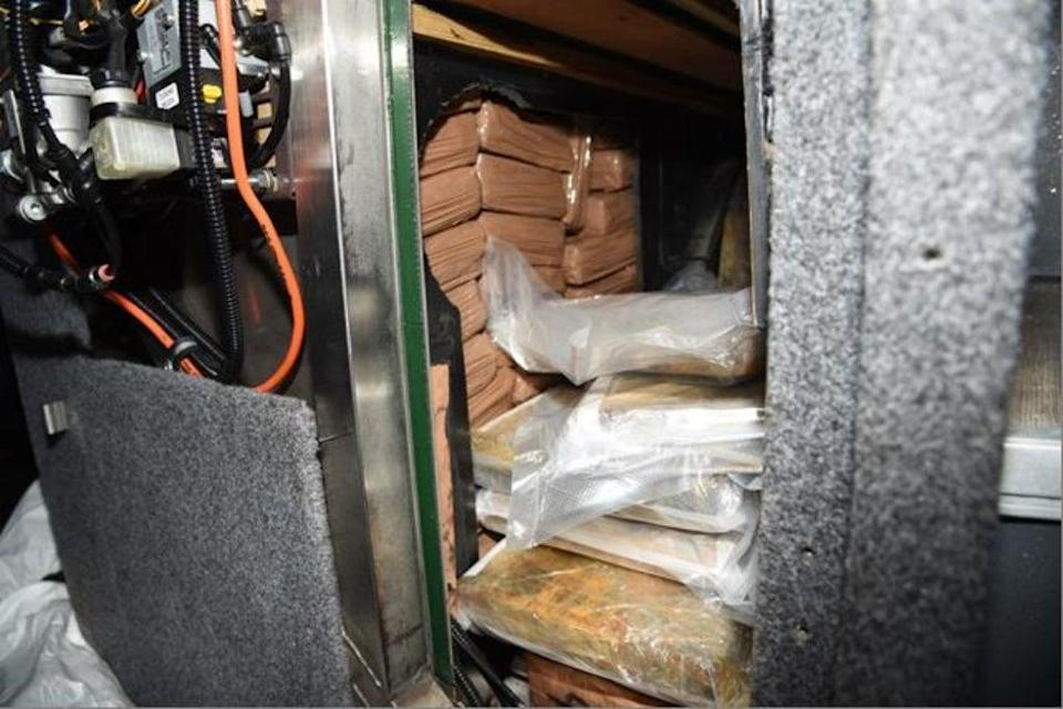 The drugs would have had a street value of almost £20 million had they been sold in the UK (picture: National Crime Agency)